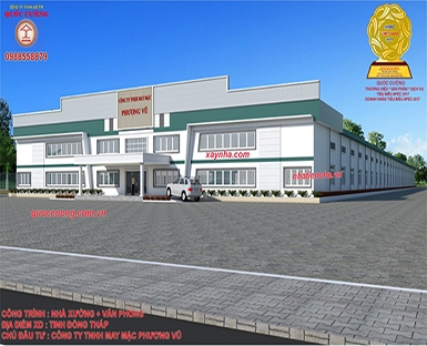 FACTORY + OFFICE. INVESTOR: APPAREL PHUONG VU. LOCATION: DONG THAP PROVINCE.