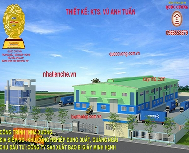 MINH HANH PAPER PACKAGING MANUFACTURING COMPANY. LOCATION: DUNG QUAT INDUSTRIAL PARK, QUANG NGAI PRO