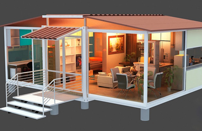 BUILDING PREFABRICATED HOUSES